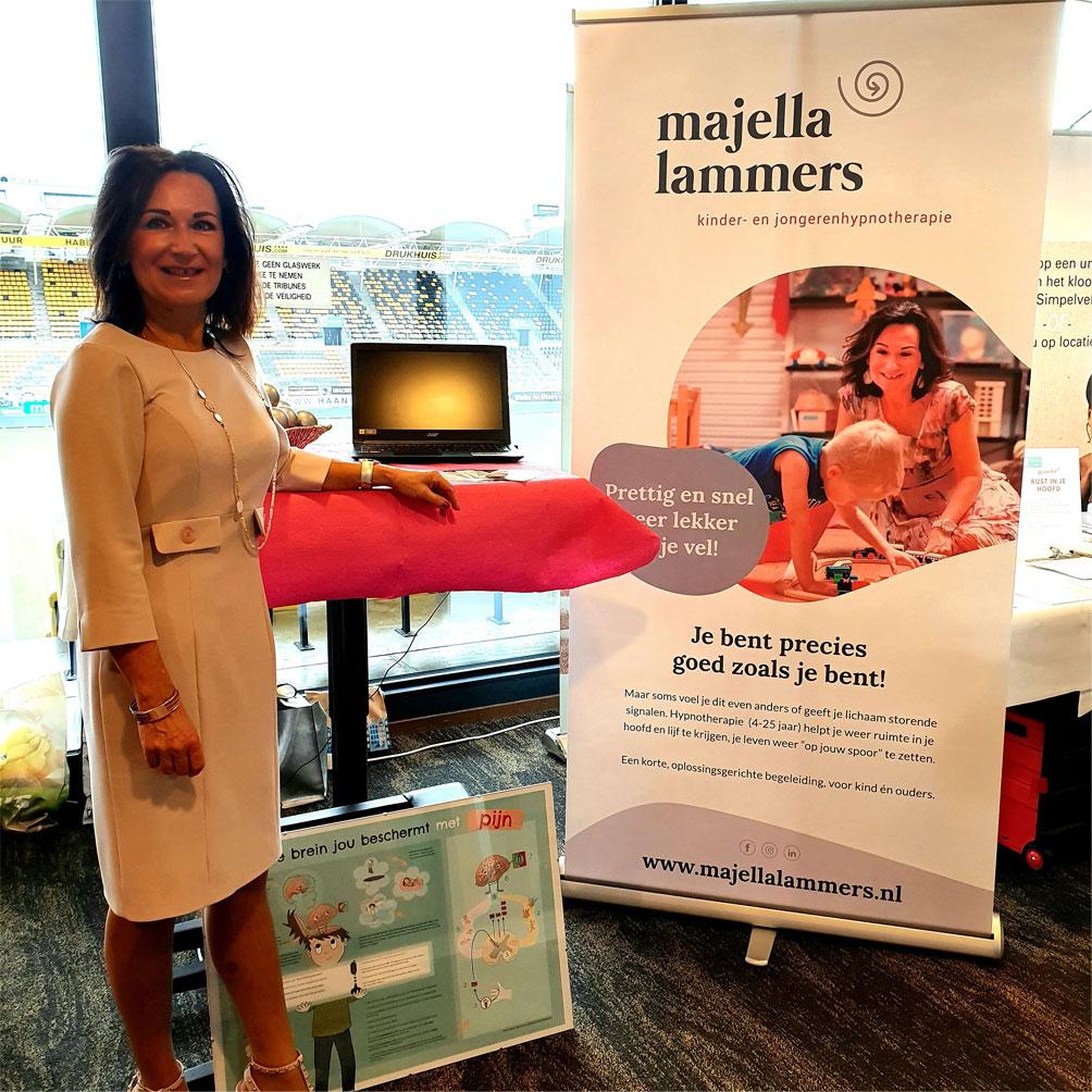 Majella Lammers op de Parkstad Gezondheidsbeurs